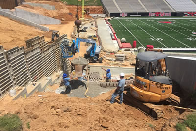 Arkansas State University Constructing the weir walls